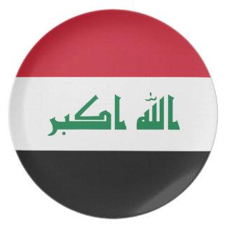 Prato De Festa Bandeira nacional do mundo de Iraque