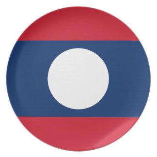 Prato De Festa Bandeira nacional do mundo de Laos