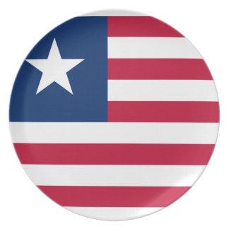 Prato De Festa Bandeira nacional do mundo de Liberia