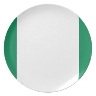 Prato De Festa Bandeira nacional do mundo de Nigéria