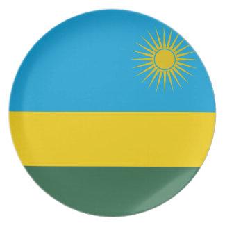 Prato De Festa Bandeira nacional do mundo de Rwanda