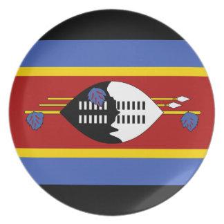 Prato De Festa Bandeira nacional do mundo de Suazilândia