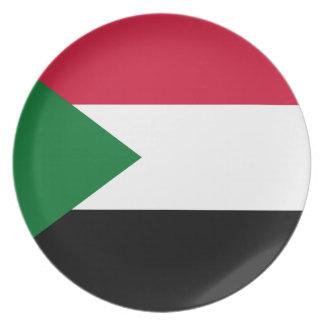 Prato De Festa Bandeira nacional do mundo de Sudão