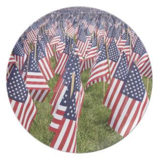 Prato De Festa Bandeiras do Memorial Day
