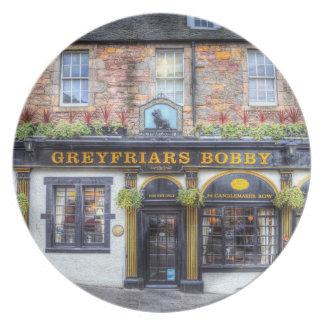 Prato De Festa Bar Edimburgo de Greyfriars Bobby