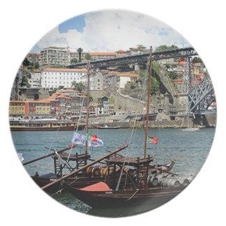 Prato De Festa Barcos do tambor de vinho, Porto, Portugal