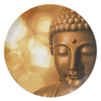 Prato De Festa Buddha dourado