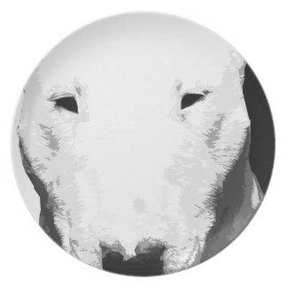 Prato De Festa Bull terrier preto e branco