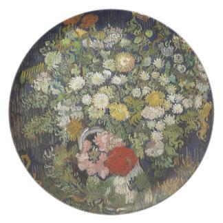 Prato De Festa Buquê das flores em um vaso