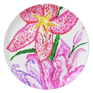 Prato De Festa Buquê de flores do lírio