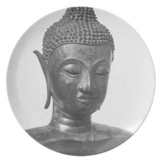 Prato De Festa Cabeça de Buddha - século XV - Tailândia