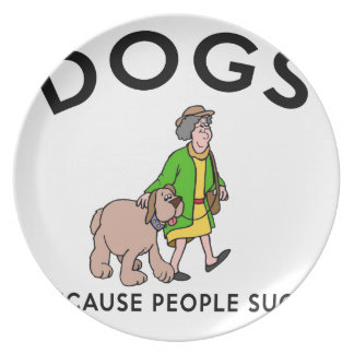 Prato De Festa cães porque as pessoas sugam