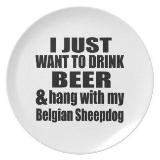 Prato De Festa Cair com meu Sheepdog belga
