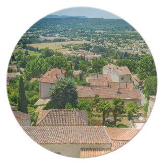 Prato De Festa Campo francês na fotografia de Provence