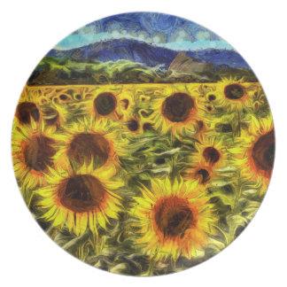 Prato De Festa Campo Van Gogh do girassol