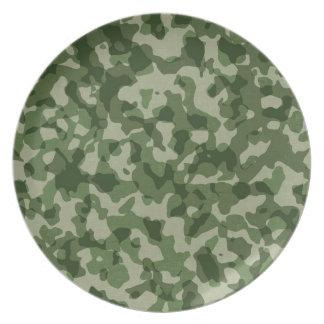 Prato De Festa Camuflagem militar do verde da selva