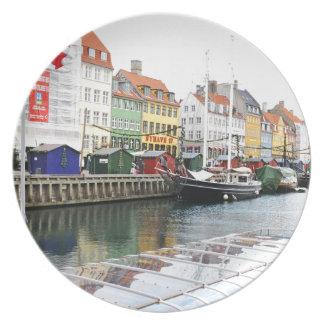 Prato De Festa Canal de Nyhavn em Copenhaga, Danmark