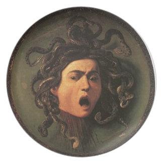 Prato De Festa Caravaggio - Medusa - trabalhos de arte italianos