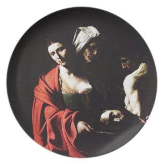 Prato De Festa Caravaggio - Salome - trabalhos de arte barrocos