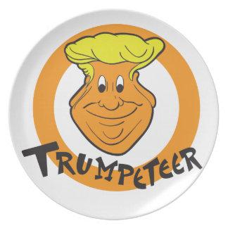 Prato De Festa Caricatura de Donald Trumpeteer
