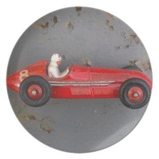 Prato De Festa Carro vermelho do brinquedo do vintage