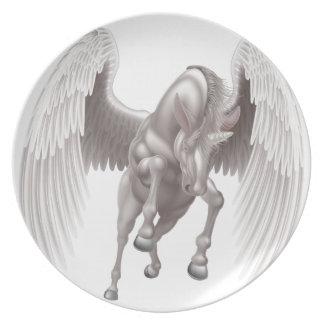 Prato De Festa Cavalo Horned voado unicórnio de Pegasus