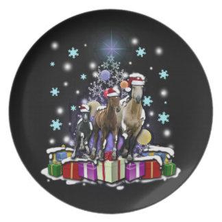 Prato De Festa Cavalos com estilos do Natal