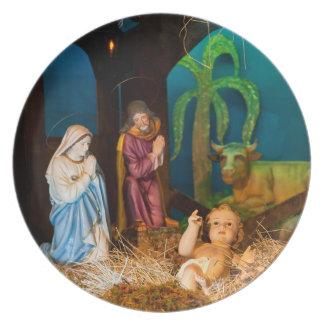 Prato De Festa Cena da natividade