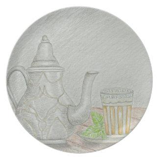 Prato De Festa chá com hortelã
