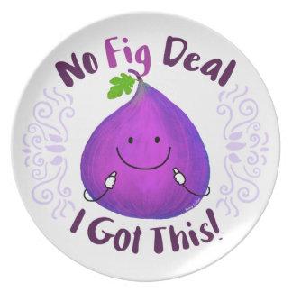 Prato De Festa Chalaça positiva do figo - nenhum negócio do figo