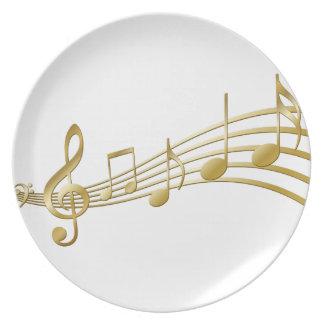 Prato De Festa Chave dourada do violino