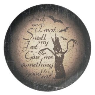 Prato De Festa citações do Dia das Bruxas