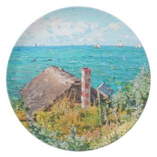 Prato De Festa Claude Monet a cabine em belas artes do
