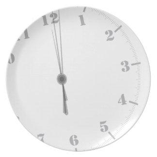 Prato De Festa Clockface da meia-noite