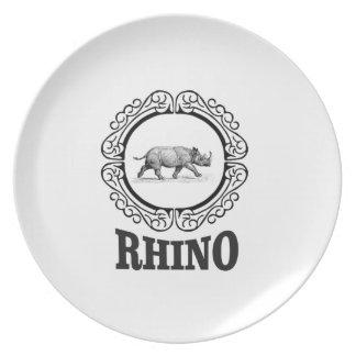 Prato De Festa clube do rinoceronte
