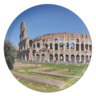 Prato De Festa Colosseum em Roma, Italia