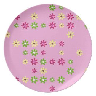 Prato De Festa Confetes cor-de-rosa da flor