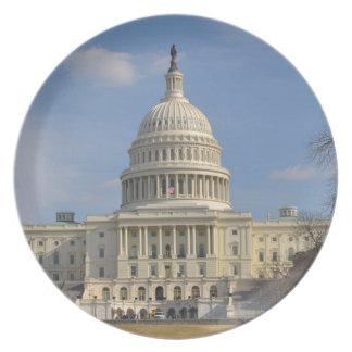 Prato De Festa Construção de Capitol Hill do Washington DC