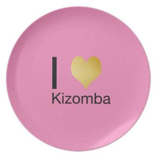 Prato De Festa Coração Playfully elegante Kizomba de I