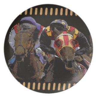 Prato De Festa Corrida de cavalos na tira do filme