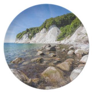 Prato De Festa Costa de mar Báltico na ilha Ruegen