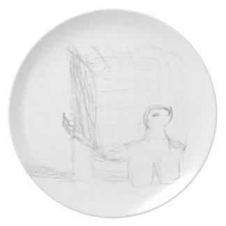 Prato De Festa cubo da tartaruga de caixa que tira Eliana
