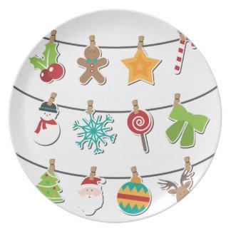 Prato De Festa Decoração de suspensão do Xmas do Natal bonito