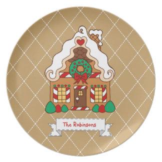 Prato De Festa Decoração personalizada da placa da casa de