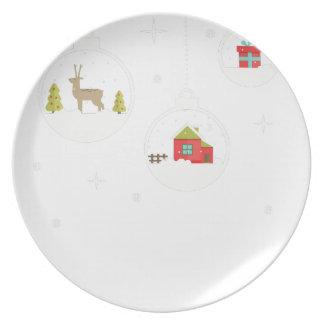 Prato De Festa decorativo-Natal-bola-suspensão