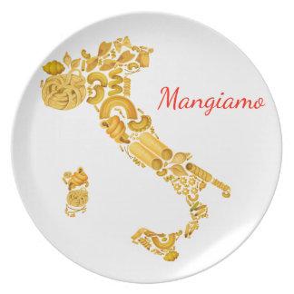 Prato De Festa Deixe-nos comer - a bandeja italiana da massa