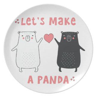 Prato De Festa deixe-nos fazer uma panda