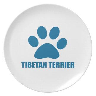 PRATO DE FESTA DESIGN DO CÃO DE TERRIER TIBETANO