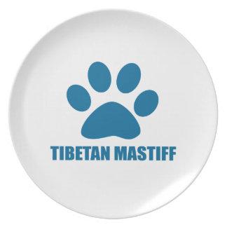 PRATO DE FESTA DESIGN DO CÃO DO MASTIFF TIBETANO