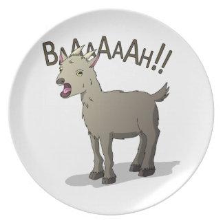 Prato De Festa Design gritando do macarronete do Doodle da cabra